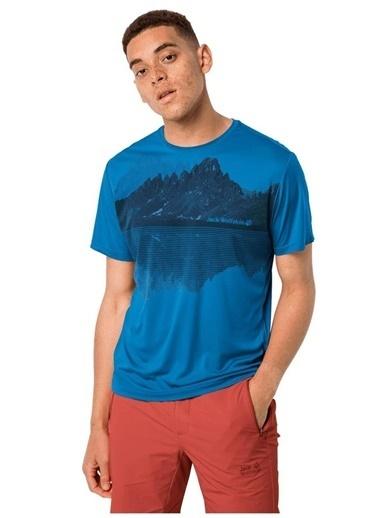 Jack Wolfskin Jack Wolfskin 1807181-1152 Peak Graphic T M T-Shirt Lacivert
